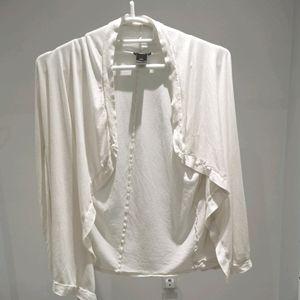 Ann Tylor Light wight open front wrap shirt